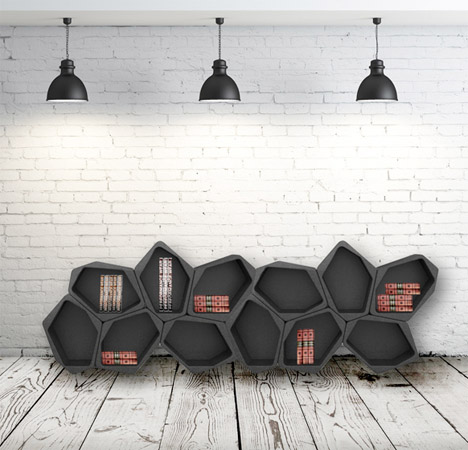 Tessellating Black Blocks Create Free-Form Furniture