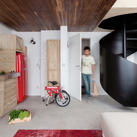 Micro Apartment Wall Storage 1