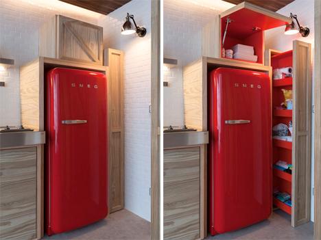 Micro Apartment Wall Storage 3