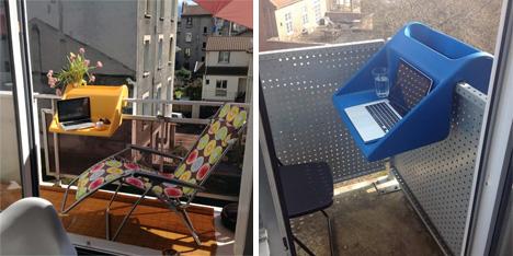 balcony table concept