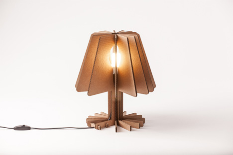 Flatpack Goes Electric: Stylish Fold-Out Cardboard Lamps