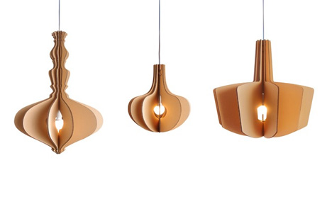 cartonado hanging lamps