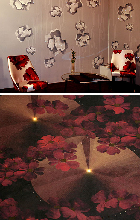 LED Wallpaper: Roll-On Wall Lights Spread Out & Shine