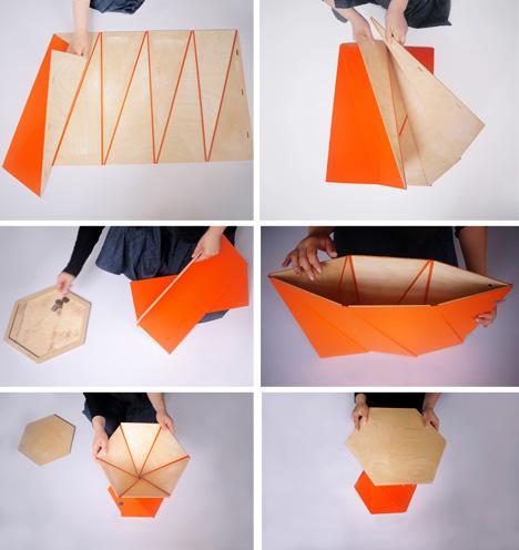 Cut & Fold: Modern, Origami-Like Furniture - Design Milk | 496x468