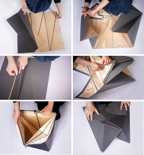 Origami-Inspired Furniture Snaps Together With Magnets