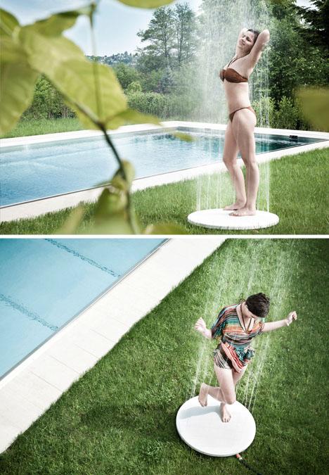Upside-Down Shower: Ground-Up Design for Decks & Yards