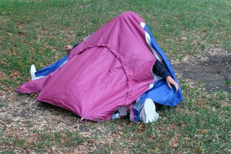 private walking shelter tent
