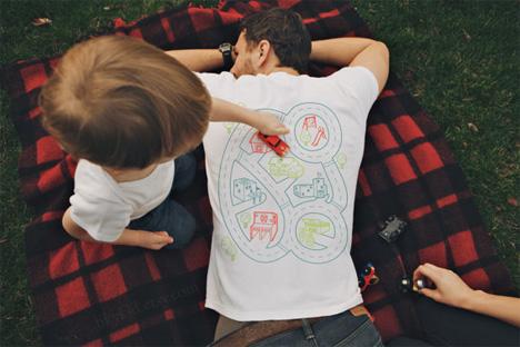 t-shirt play mat