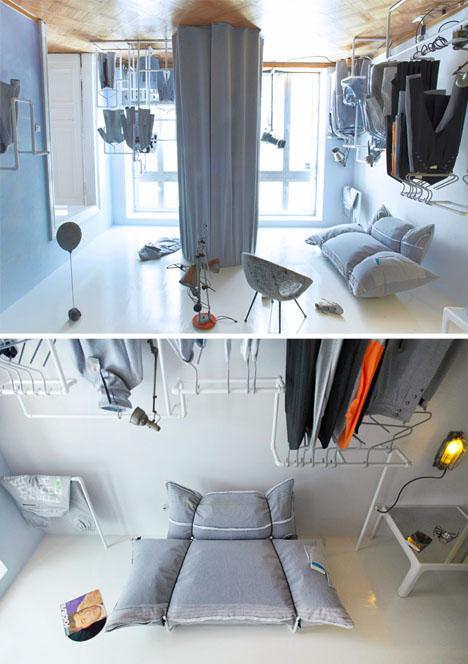 Upside-Down Interior Design Creates Crazy Optical Illusion