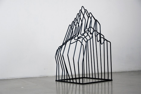 Negative Space Sculpture Becomes Personal Art When Messy Designs