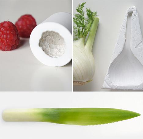 Biodegradable Utensils Vegetables 3D Printed 4