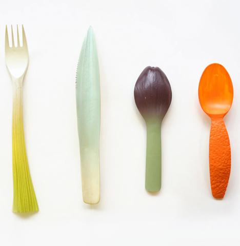 Biodegradable Vegetable Utensils 3D Printed 2