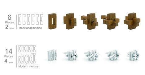 Burr puzzle stool 3