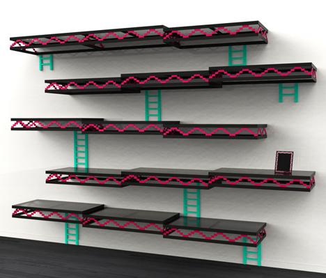 Geek Furniture Donkey Kong Shelves 2