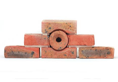 brick wall modular birdhouse
