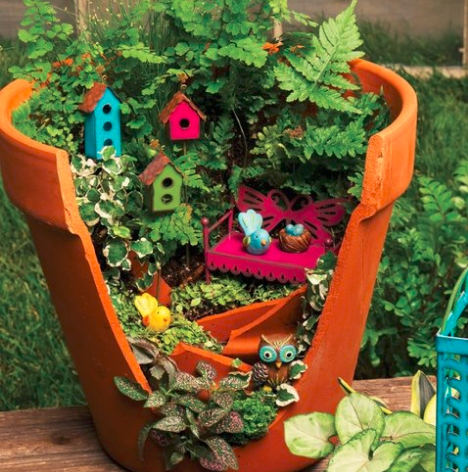 broken pot landscape design