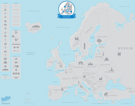 european travel map