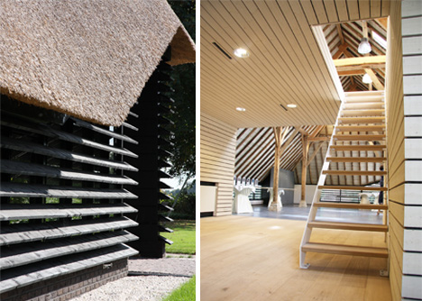 flemish barn stairs and slats