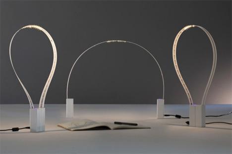 fluida flexible led lamp