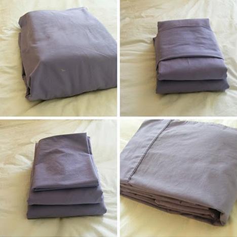 folding bedsheets neatly