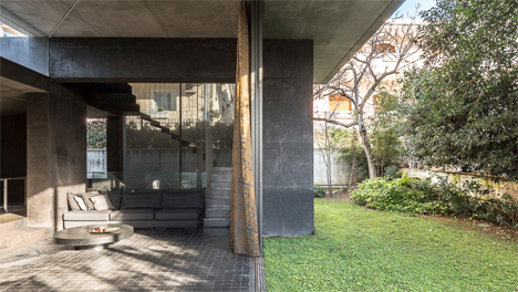 indoor outdoor patio kifissia house