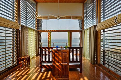 interior bedroom over water house