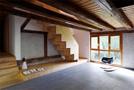 living space alsace farmhouse renovation