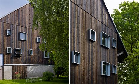 modern windows alsace farmhouse