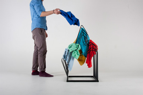 mountain shaped clothing rack