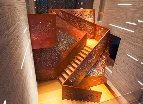 perforated staircase