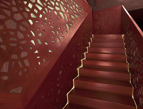 perforated stairs detail image