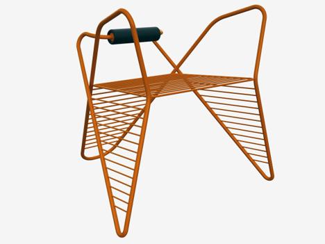 reversible pretzel chair