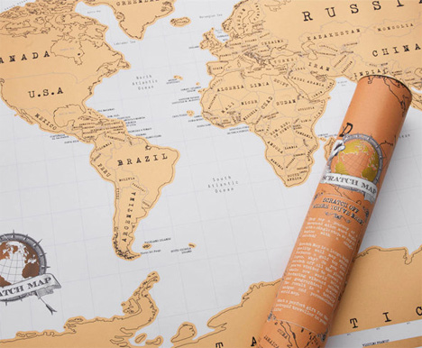scratch off maps let you display every place youve been