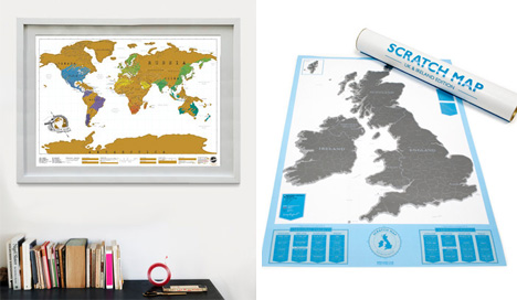ScratchOff Maps Let You Display Every Place Youve Been
