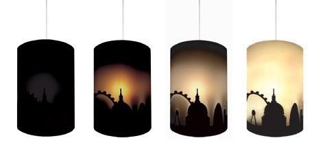 London Light: Heat-Reactive Lampshade Mimics Rising Sun