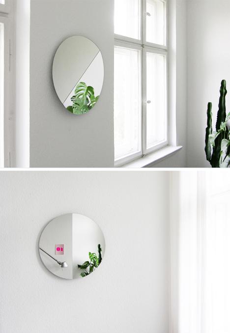 split mirror half views