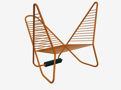 twisty reversible tubular chair