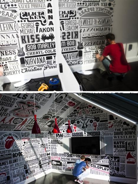 typography interior application process