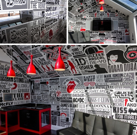typography room finished images