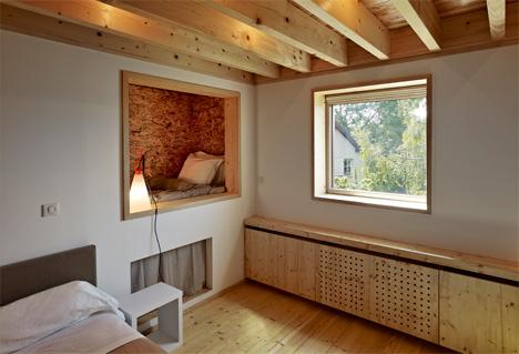 wall cutout alsace farmhouse bedroom