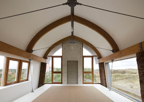 top floor dune house