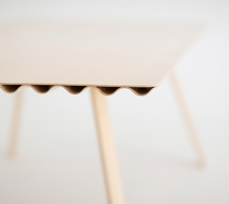 World's Lightest Timber Table is Stronger Than Solid Wood