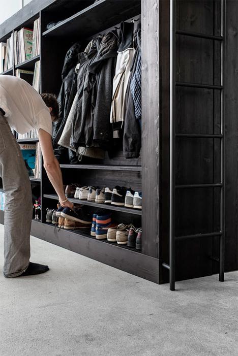 Apartment Storage Furniture living cube: space-saving loft/storage unit for studios