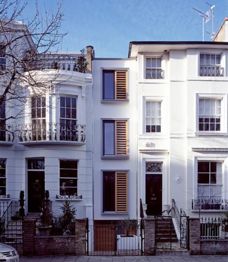 Narrow Stacked Gap House London 1