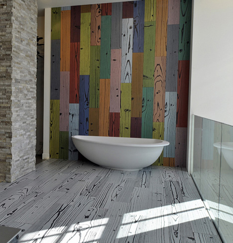 colorful tile - Colored Wood Floor