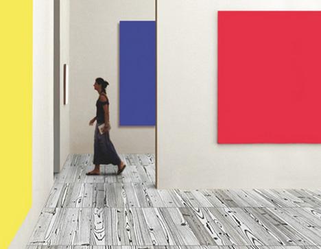 colorful wood grain tile