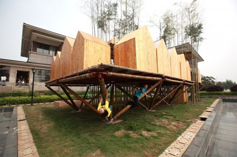 floating bamboo city wuhan china
