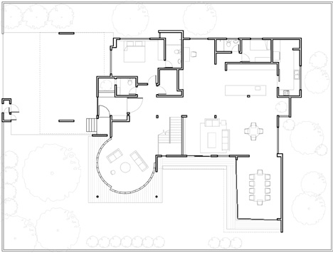 floorplan voila house  sc 1 st  Dornob & Voila! Huge Sliding Glass Door Reveals Open-Air Living Room