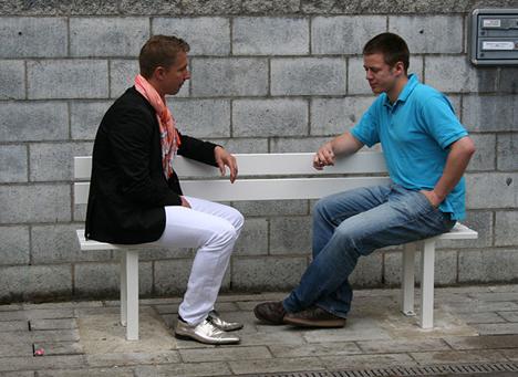 interactive social benches
