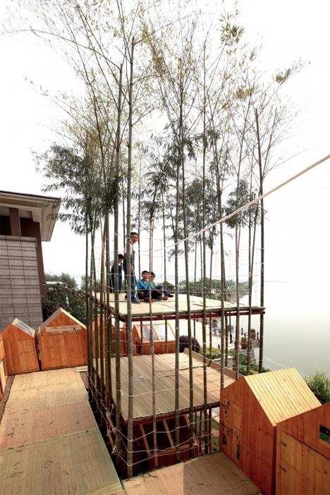 kids in city in sky growing house